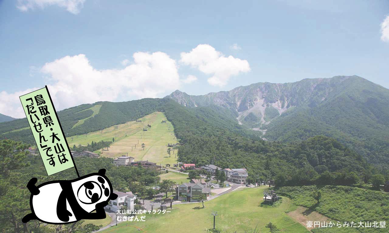 新緑の大山北壁